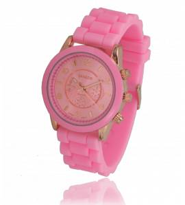 Montre silicone rose emi