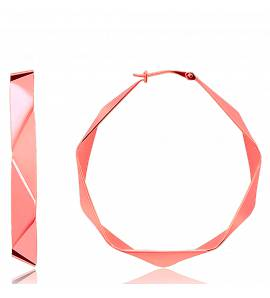 Ohrringe frauen goldplattiert Amor 3 cm hoops