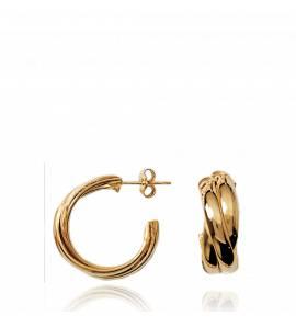 Ohrringe frauen goldplattiert Anneaux Entrelacés hoops