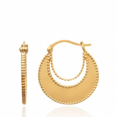 Ohrringe frauen goldplattiert hoops