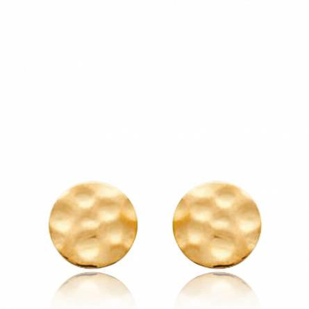 Ohrringe frauen goldplattiert MAXIME rund