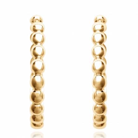Ohrringe frauen goldplattiert rund