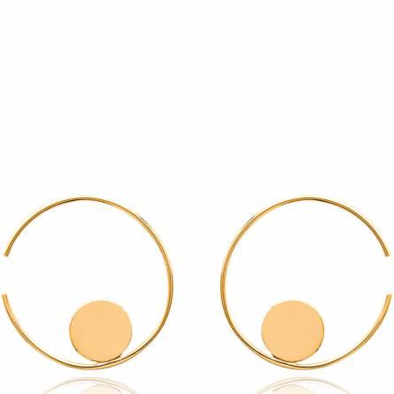 Ohrringe frauen goldplattiert Valéry hoops