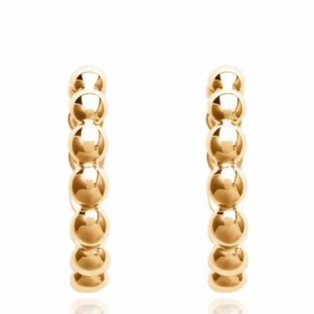 Ohrringe frauen goldplattiert Valentia rund