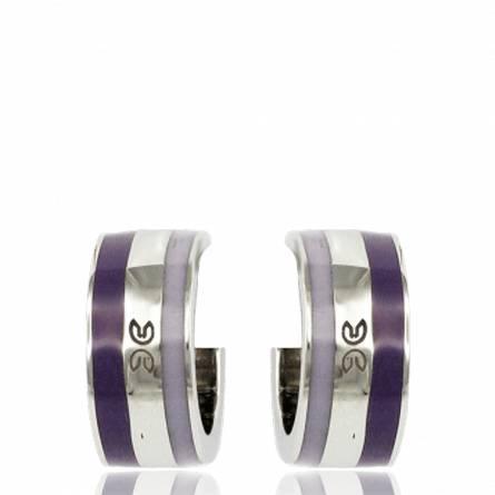 Ohrringe frauen stahl Ursine violett