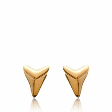 Oorbellen dames verguld Abondance driehoeken