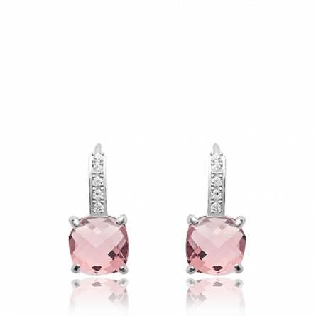 Oorbellen dames zilver Valdenar roze