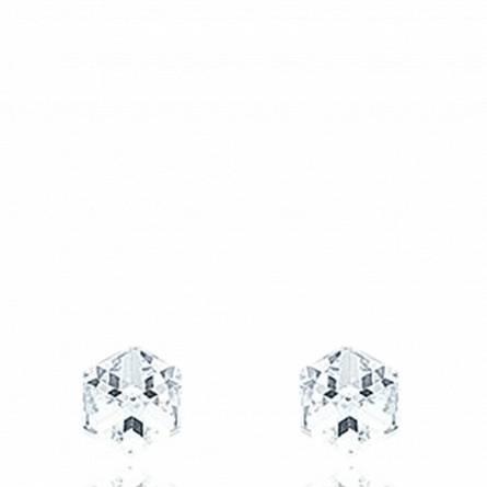 Oorbellen zilver Cristal wit