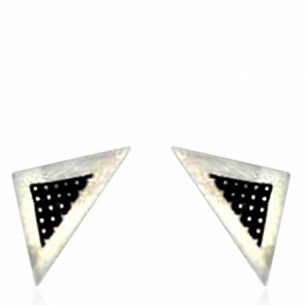Orecchini uomo argento Minimaliste triangle