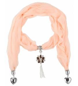 Pañuelo mujer Saumon corazón rosa