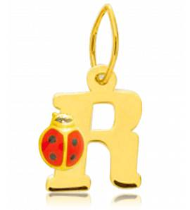 Pandantiv copil aur Moderne alfabet galben
