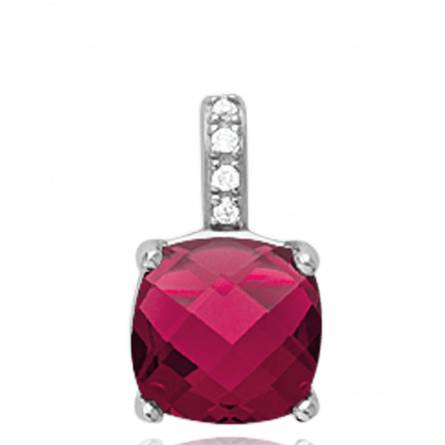 Pandantiv femei argint Bellona rosu