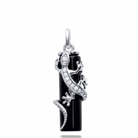 Pandantiv femei argint Bich negru
