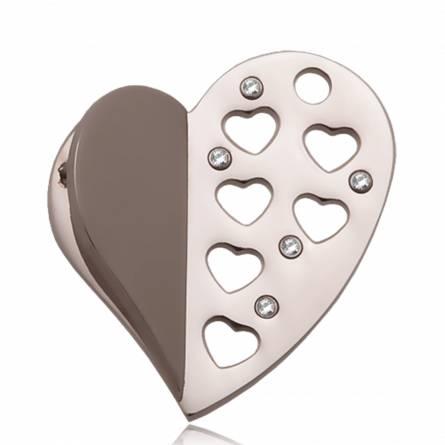 Pandantiv femei oțel Coeur ouvert inimioara