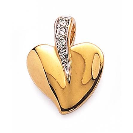 Pandantiv femei placate cu aur Fondu inimioara