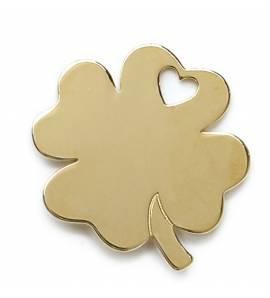 Pandantiv femei placate cu aur Trefle mézières inimioara