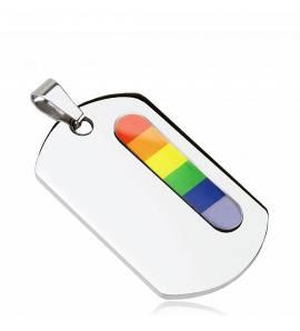 Pandantiv oțel Rainbow