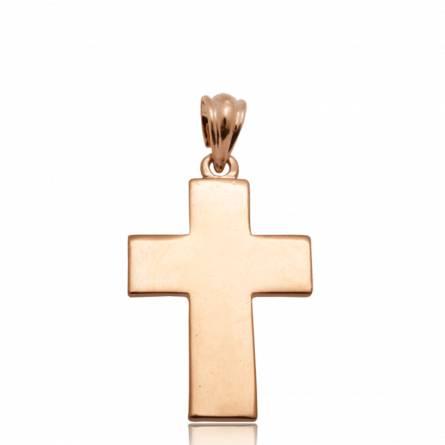 Pendentif acier rose croix