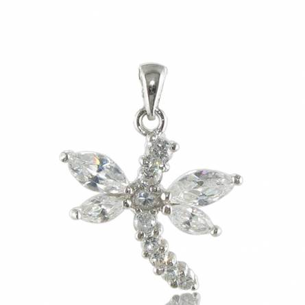 Pendentif argent butterfly blanc