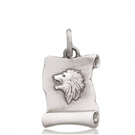 Pendentif argent lion