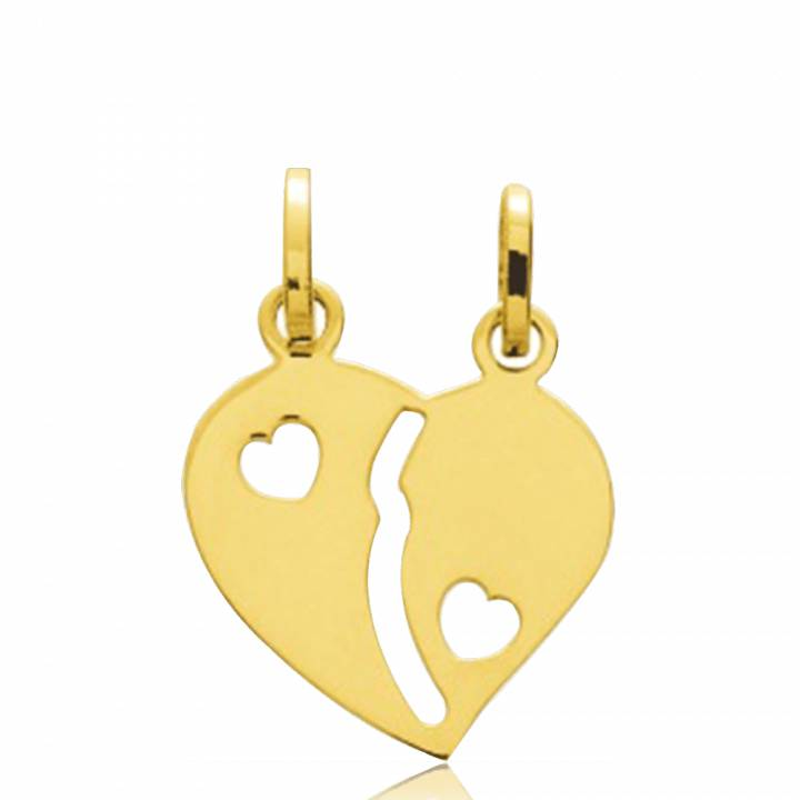 60% pas cher remise chaude grand assortiment Pendentif Coeur Or Sectionnable