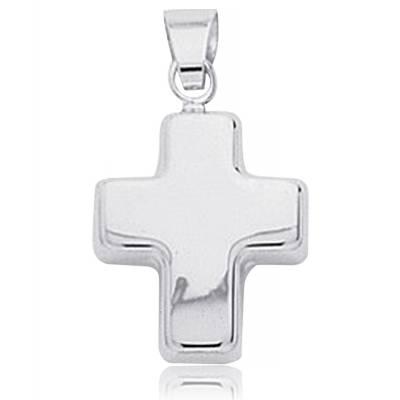 Pendentif Croix Or Blanc Stylisée Konstantin