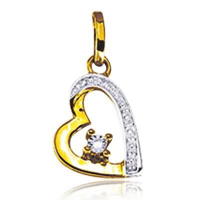Pendentif duo Or diamant cupidon