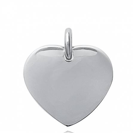 Pendentif femme acier Cherette coeur