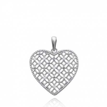 Pendentif femme argent Batyah coeur
