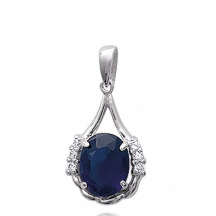 Pendentif femme argent Bedelia bleu