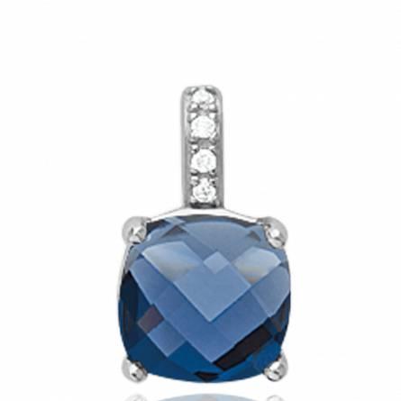 Pendentif femme argent Belphoebe bleu