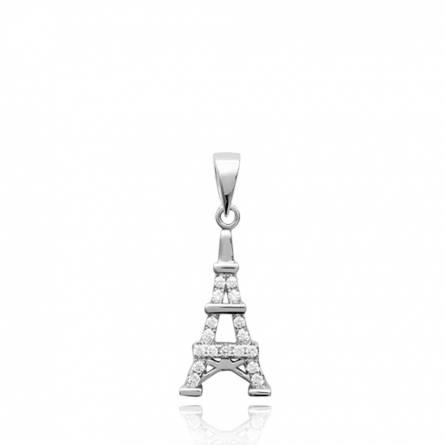Pendentif femme argent Eiffel