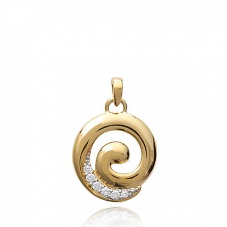 Pendentif femme plaqué or Azalea spirale