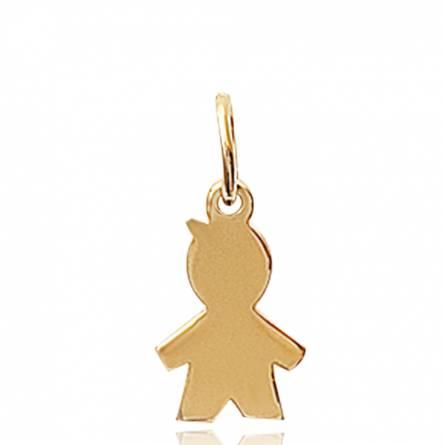 Pendentif femme plaqué or Forme garcon