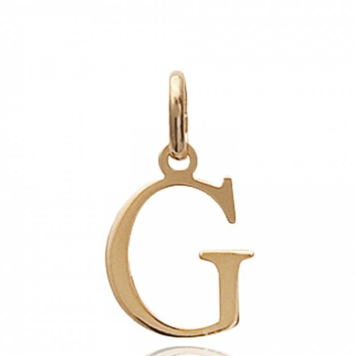 Pendentif Lettre G Femme moderne Plaqué Or