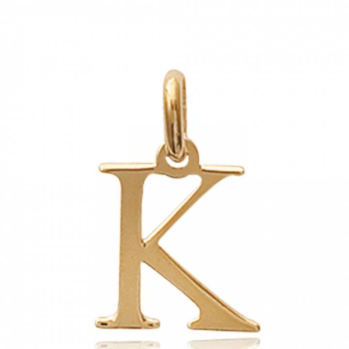 Pendentif Lettre K Femme moderne Plaqué Or