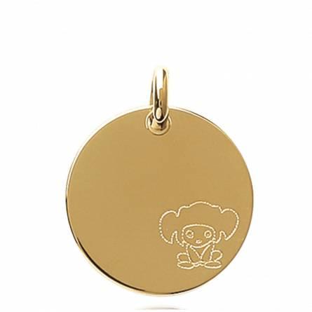Pendentif Médaille Personnage