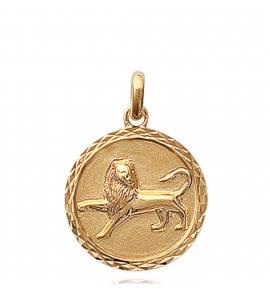 Pendentif médaillon lion