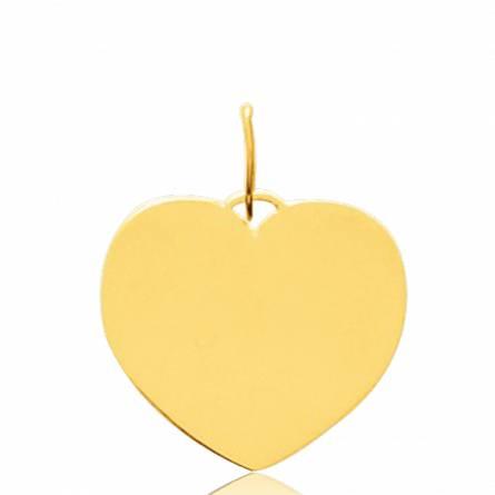 Pendentif or Éternel  coeur jaune