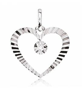 Pendentif Or Blanc Et Diamants Amable
