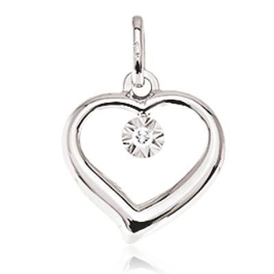 Pendentif Or diamant Amour