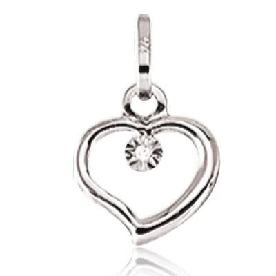 Pendentif Or diamant liaison