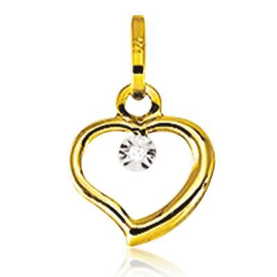 Pendentif Or Jaune Et Diamants Aimable