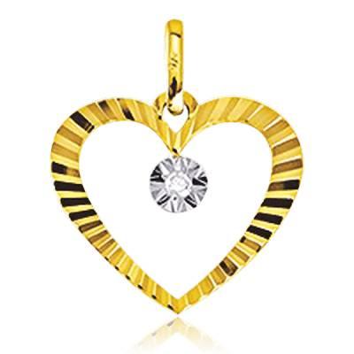Pendentif Or Jaune Et Diamants Archibald