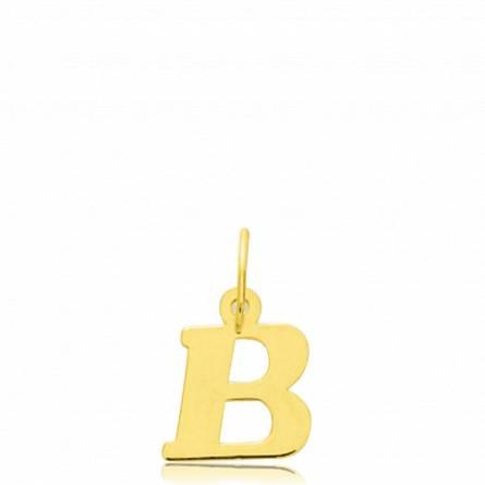 Pendentif or lettre B
