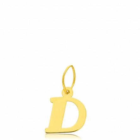 Pendentif or lettre D