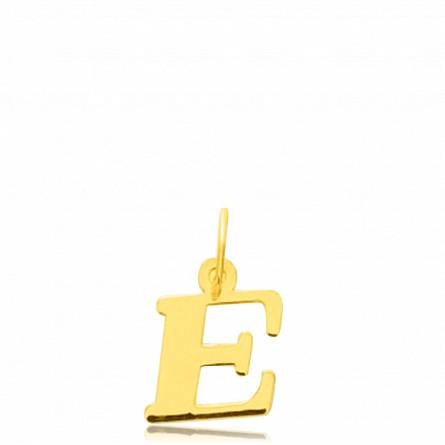 Pendentif or lettre E