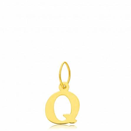 Pendentif or lettre Q