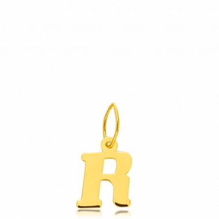 Pendentif or lettre R