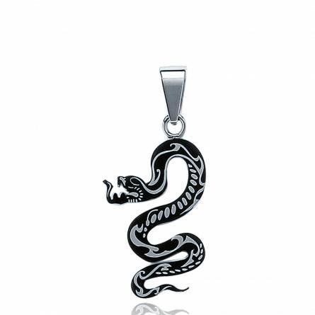 Pendentif ruthénium serpent